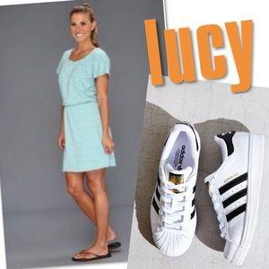 NWT LUCY BLUE TRAVEL PERFECT DRESS SZ L